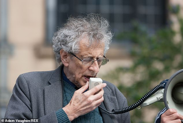 Piers Corbyn, 73, (pictured) attended an anti-lockdown protest in Sheffield on Saturday, less than a week after he was slapped with a £10,000 fine for organising a similar rally in Trafalgar Square