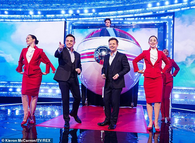 Sensational:Ant and Dec's Saturday Night Takeaway was awarded Best Entertainment Show despite being thrown in disarray by the COVID-19 lockdown
