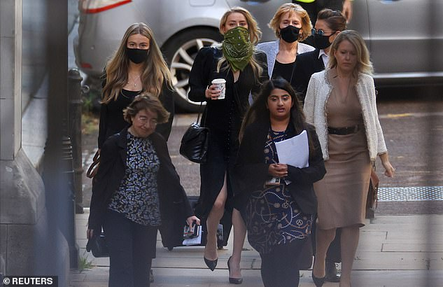 It was impossible to see Amber¿s expression, or if she even glanced in her former husband¿s direction, or if those glances were filled with regret or antipathy or something else. (Above, the 34-year-old actress and her 'Team Heard' arriving at the High Court; far right, her lawyer Jennifer Robinson)