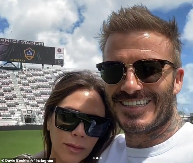 Miami! Back in March, David proudly showed off his new Inter Miami football stadium