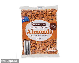 The awards also covered a 'Health Guru' category, dubbing Forresters' Natural Almonds ($9.99) the best product you can buy at the store (pictured)