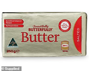The 'MVP' or most valuable player at Aldi was deemed to be their Beautifully Butterfully Salted Butter for $2.79 (pictured)
