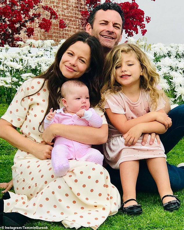 Picture perfect: Tammin shares daughter Phoenix and one-year-old daughter Lennox with filmmaker husband, Sean McEwen