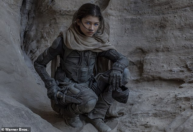 Leading lady: Zendaya will soon appear in Dune, the first of a planned two-part adaptation of the 1965 science fiction novel of the same name by Frank Herbert