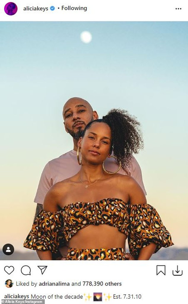 Milestone: Keys and Beatz celebrated their 10th wedding anniversary in the desert with their two boys in late July and early August