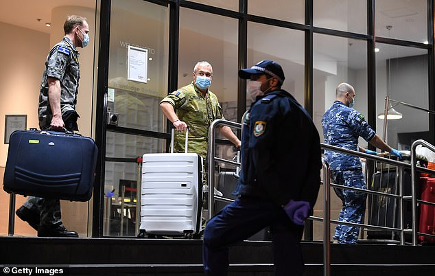 The man, 30, arrived at Sydney Airport on September 4 without an exemption. Authorities took the man to hotel quarantine, where he was to isolate for 14 days at his own expense. Pictured: hotel quarantine in Sydney