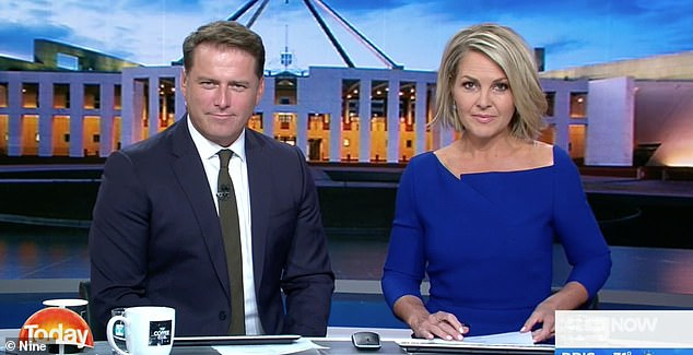 A touch of frost: She was replaced by Georgie Gardner, who had clashed with Karl frequently in the past. The lifeless pair delivered the program's worst ratings year in a decade