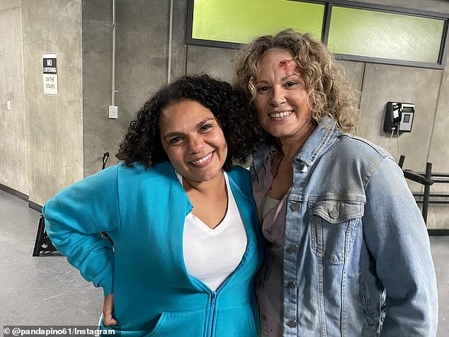Bittersweet end: He wrote: 'Last day of Shooting on Wentworth. What a glorious experience it's been working with such wonderful people.' Pictured are Wentworth actors