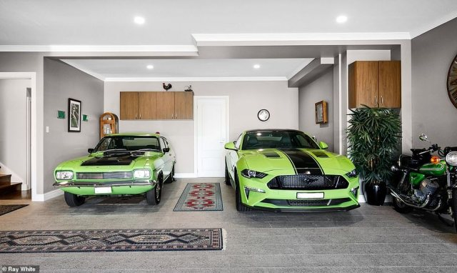 The $4.9million dollar mansion on Sydney's north shore boasts one of the best man caves in Australia (pictured)