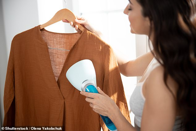 According to consumer advocacy group CHOICE , garment steamers are a better option than irons if you own a lot of vintage or delicate items (stock image)