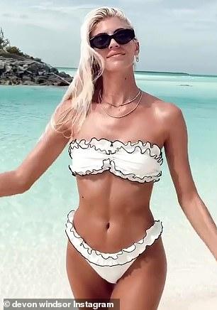 Talented:She created her own swimwear line called DW Swim last year