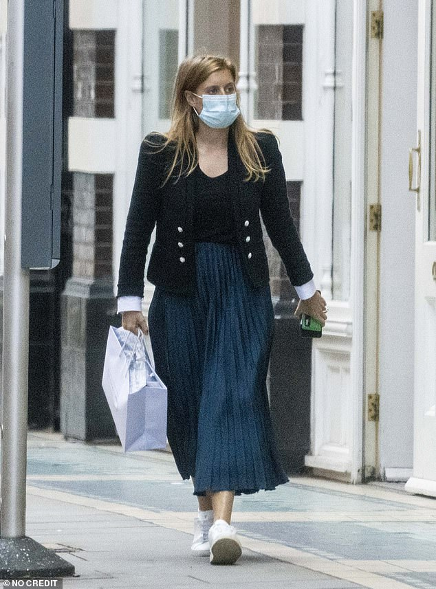 Princess Beatrice, 32, was seen in public today for the first time since her wedding as she enjoyed a trip to baby shop The Little White Company with new husband Edoardo Mapelli Mozzi, 36