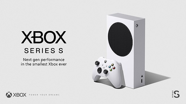 Microsoft's official image of the new Series S, which will enter the market along with Microsoft's main event and next-gen Xbox console, the Series X