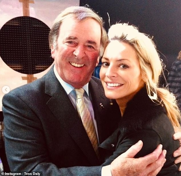Leaving: Tess Daly has announced she's stepping down as the host of Children In Need after 11 years as she paid tribute to the charity's late founder Sir Terry Wogan (pictured)