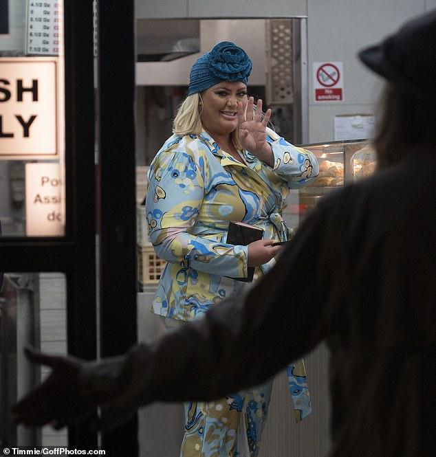 Lavish: As well as her designer handbag, Gemma also showed off her Louis Vuitton purse