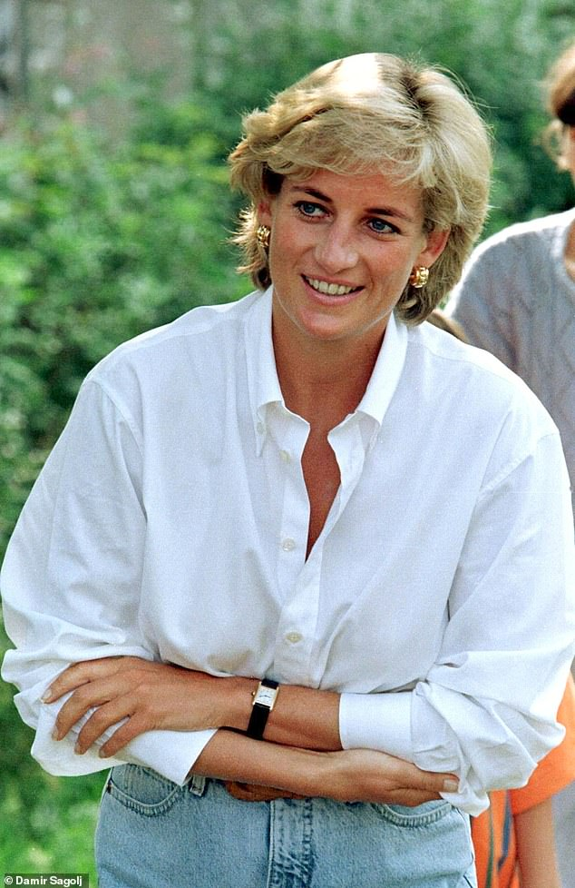 Diana, Princess of Wales, smiles at an event held in support of land mine victims in Tuzla, Bosnia, on August 9, 1997