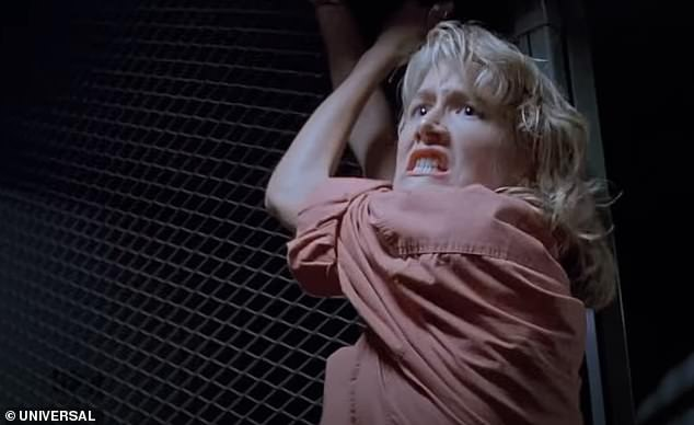Is Laura Dern KILLED OFF in Jurassic World: Dominion? The actress [pictured in 1993's Jurassic Park] has returned home to LA while her co-stars Sam Neill and Jeff Goldblum remain in the UK shooting the dinosaur sequel