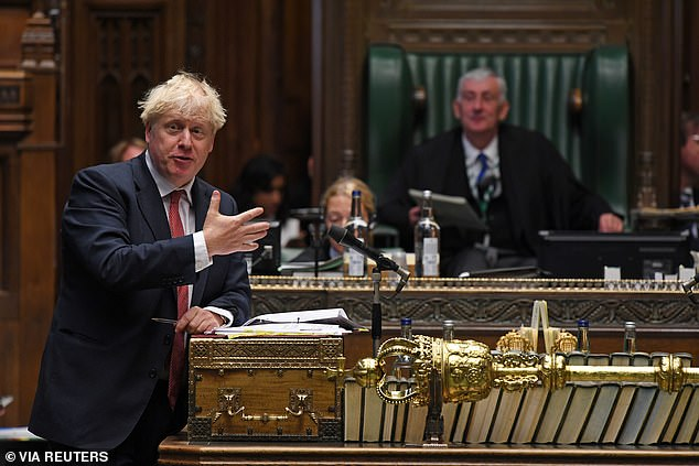 Boris Johnson, pictured during Wednesday's Prime Minister's Questions in the House of Commons, has said the government will not be extended the Coronavirus Job Retention Scheme, which is set to come to an end on October 31