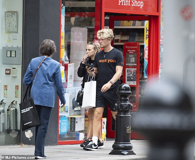 Spotted: The pair were spotted out and about on Tuesday, shopping in London