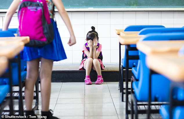 Organisation for Economic Co-operation and Development's latest reportrevealed 10 per cent of Australian students were hit or pushed around by their peers during school hours (stock)