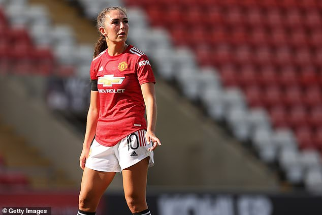 Manchester United's Katie Zelem has also been brought into the fold for this training camp