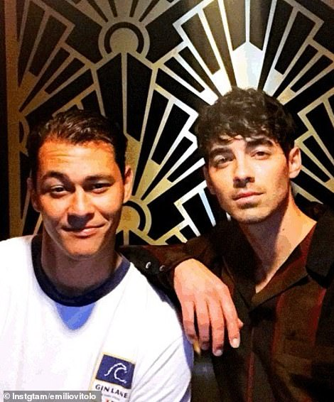 With Joe Jonas at the Jimmy Fallon show