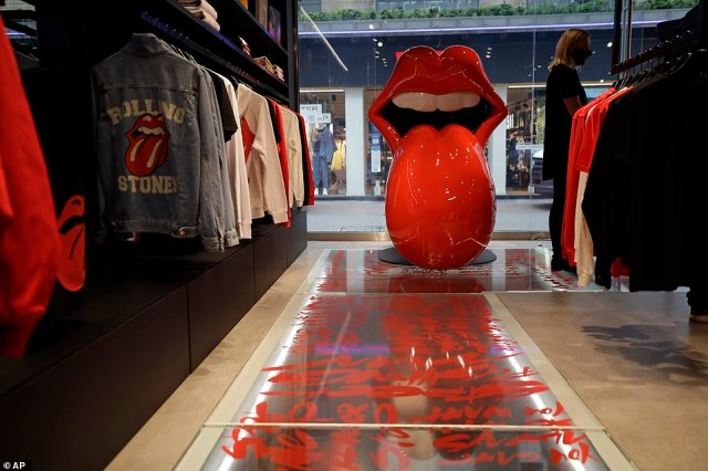 The shop was jointly curated by The Rolling Stones and Bravado, Universal Music Group's merchandise and brand management company