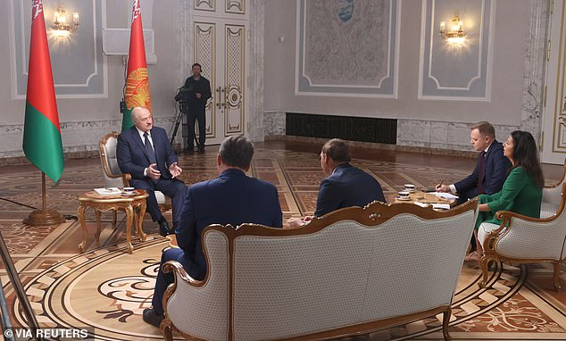 Belarus's President Alexander Lukashenko admitted he 'may have stayed in power a little too long' today but vowed to hold onto power on Russian state media