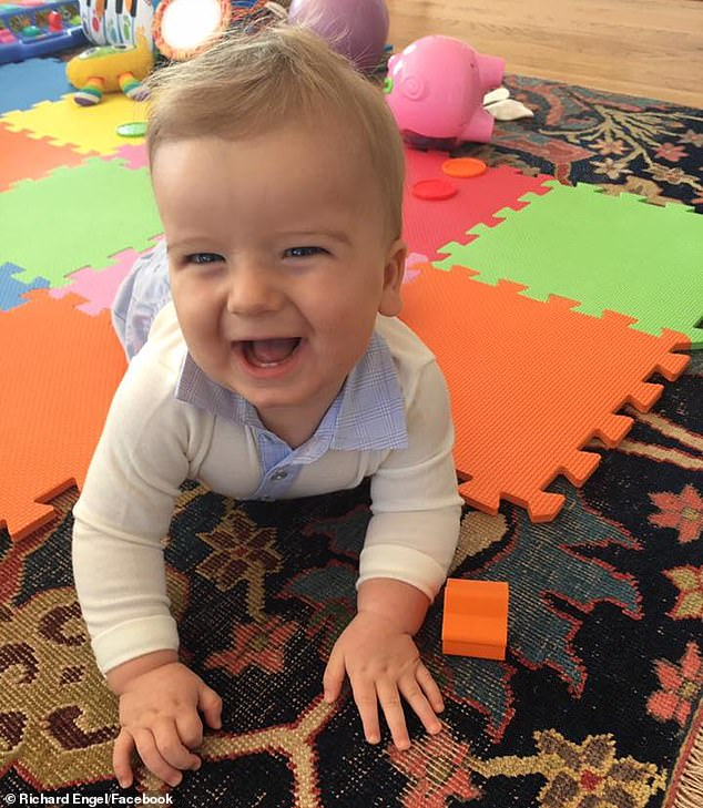 Life-changing moment: Henry, pictured as a baby, was diagnosed with Rett Syndrome in 2017. The genetic mutation leads to severe cognitive deficits and physical impairment
