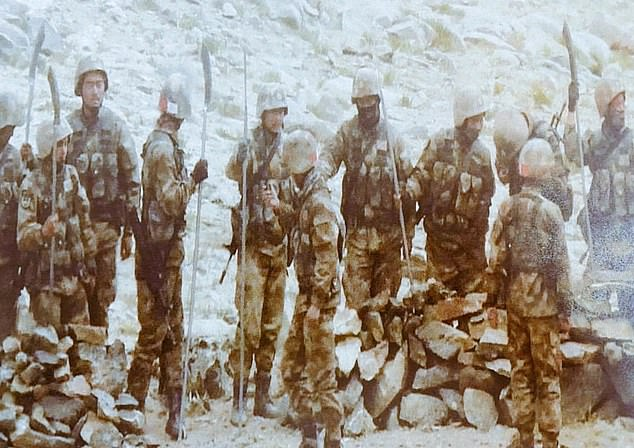 Indian security sources shared images of Chinese troops lined up at the border with spears on Monday night amid renewed threats of skirmishes between the two nuclear armed sides at the Himalayan border