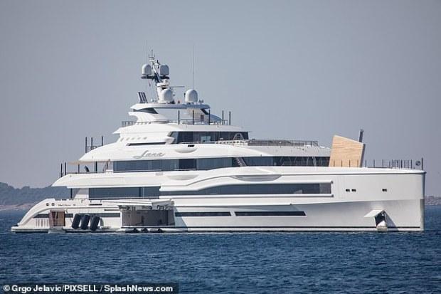 Fancy schmancy: The massive boat cruises off the coast of Croatia