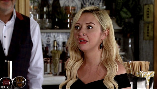 Newcomer! Kimberly will no doubt be enjoying an afternoon of pampering after joining the cobbles as escort Nicky Wheatley (pictured on the soap)