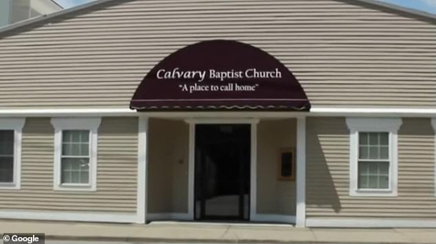 Bell welcomed worshippers into Calvary Baptist Church in Sanford (pictured) on Sunday