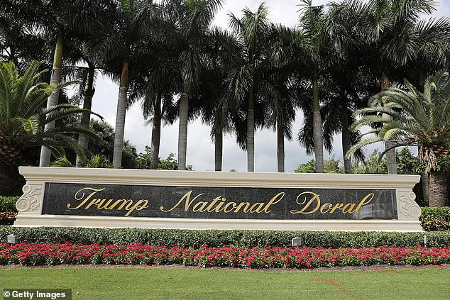 Trump's Miami golf property, Trump National Doral Miami, took the biggest hit over the last year, down an estimated $114 million