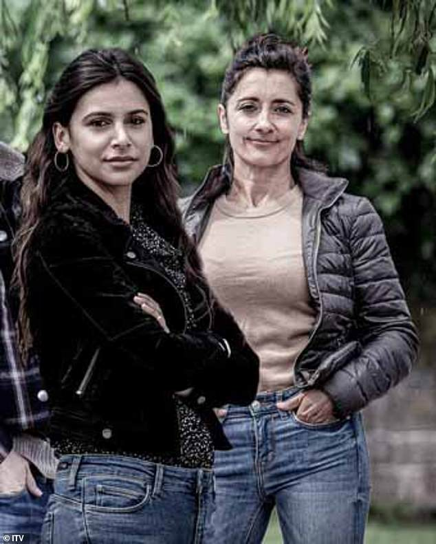 Newcomers!Manpreet, played by Rebecca Sarker, is left unimpressed when her younger sister Meena unexpectedly shows up after previously having a huge fallout (pictured)