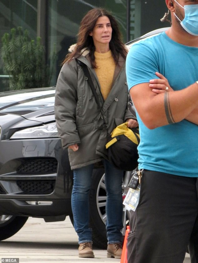 Lights, camera, action: Sandra Bullock was spotted on the set of her upcoming Netflix movie in Surrey, Canada on Saturday