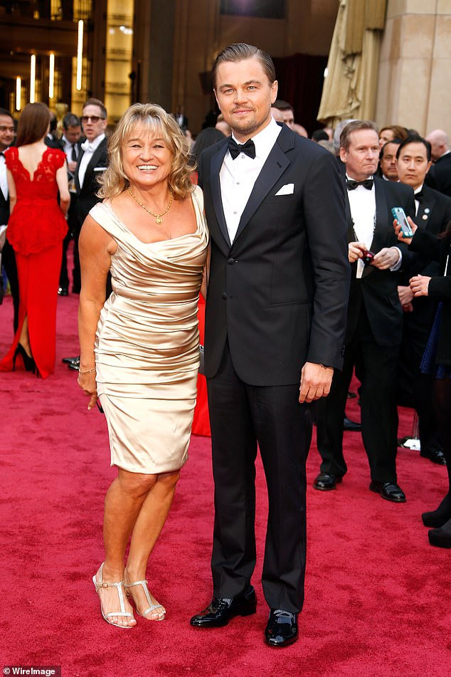 Don't tell mama! Leonardo DiCaprio once tried to hide the fact that he smoked when he was younger from his mother Irmelin Indenbirken (pictured at the 2014 Oscars)