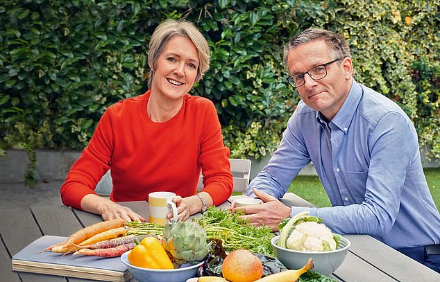 Dr Michael Mosley shared advice for following his Fast 800 plan to lose weight fast, as it's revealedtwo-thirds of British adults are overweight or obese. Pictured:Michael and his wife Clare Bailey