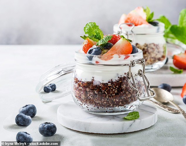 This scrumptious quinoa and berry porridge is filled with nutritious ingredients