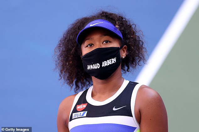 On September 4, Naomi wore a mask featuring the name Ahmaud Arbery for her Women's Singles third round match against Marta Kostyuk of the Ukraine