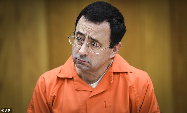 Guilty: Nassar was sentenced to up to 175 years in prison for sexual abuse during his time with USAG and at Michigan State University
