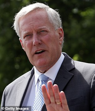 Mark Meadows defended Donald Trump Tuesday after his boss attacked top military commanders on Monday, complaining they just want to keep defense contractors 'happy' as he argued soldiers in the field 'love me'