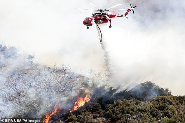 The El Dorado fire.The blaze has scorched 10,574 acres and was just 16 percent contained by Tuesday morning