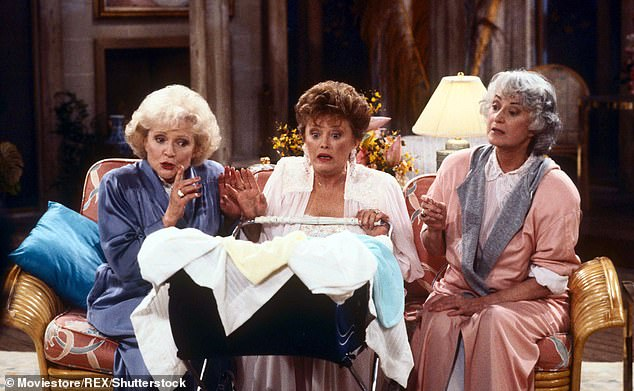 Betty White, Estelle Getty and Bea Arthur are pictured in an episode of the beloved show