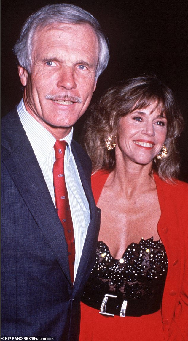 Number three: Of her ex-husbands, Fonda observed: 'I'm stronger than all the men that I've been married to'; Jane seen with third husband Ted Turnercirca 1994. They were wed from 1991 until 2001