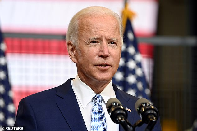 A former White House stenographer told the Washington Free Beacon in an interview out Tuesday that Democratic nominee Joe Biden (pictured) has 'lost a step' and 'doesn't seem to have the same mental acuity' as he did when he left office in 2017