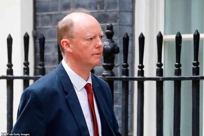 Downing Street said chief medical officer Professor Chris Whitty, pictured, agreed that urgent action was needed after the rise in coronavirus cases