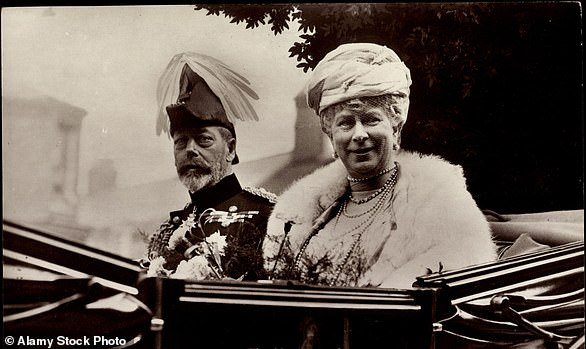 Pictured: King George V with Queen Mary