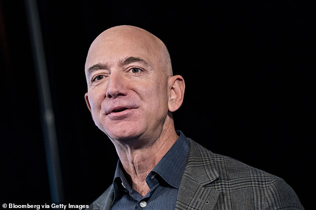 Jeff Bezos, founder and chief executive officer of Amazon.com Inc., speaks at the National Press Club in Washington, DC, US, on Thursday, 19, 2019