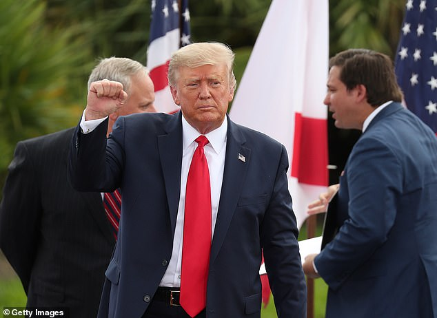 President Donald Trump has repeatedly sought to attack the mental fitness of rival Joe Biden. 'He's shot,' Trump said in Florida Tuesday